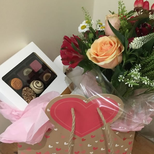 Posy and Chocolate Treat