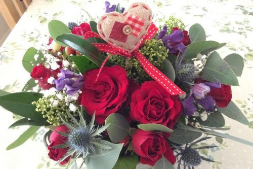 Sweetheart Table Arrangement Flowers