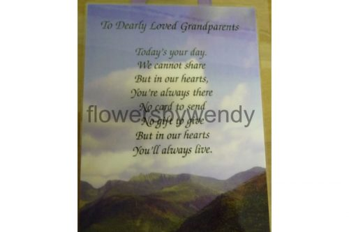 To Dearly Loved Grandparents