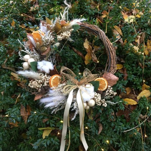 Country dried and fruit Wreath