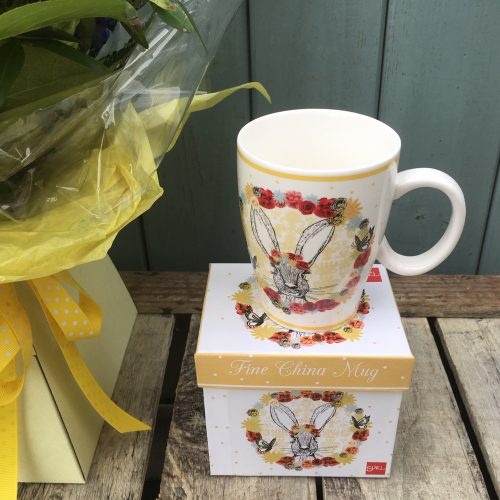 Fine China Rabbit Mug